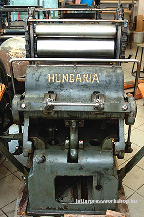 Hungaria, Gally-type press from the Klein-Javor factory