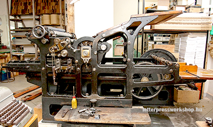 Wörner flat-bed press, it was called Liliputian, though it was a giant